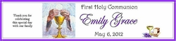 COM-33G Chalice First Communion Water Bottle Label