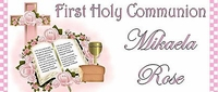 COM-34CW Pink Bible And Cross First Communion Wrapper