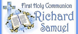COM-35CW Blue Bible And Cross Communion Wrapper