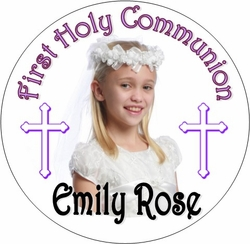 COM01L - Photo First Communion Lollipop - Boy or Girl