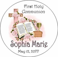 COM35T - Pink Bible & Cross First Communion Tins
