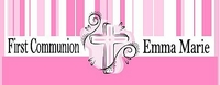 COM36CW - Pink Stripe Cross Communion Candy Bar Wrapper