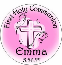 COM37T - Pink Swirl First Communion Candy Tins