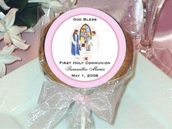 Cookie Pop Favors - Christenings, Baptism, First Communion