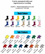 Corporate Promotional Sock Favors (Case of 48 Socks - $5.20 per pair)