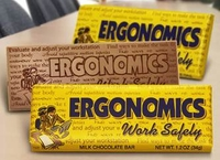 Work Safely! Ergonomics Chocolate Bars (Case of 50)