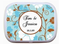 Fancy Blue & Brown Designed Mint Tins