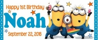 FB-001CW - Minions 1st Birthday Candy Bar Wrappers