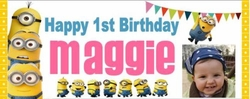 FB-002CW - Minions Birthday Candy Bar Wrappers (can be boy or girl)