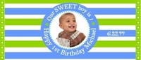 FB31 - Blue and Green Photo Wrapper Boy