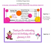 FB19 - Minnie Mouse Striped Candy Bar Wrapper