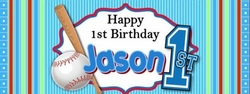 FB38 - Baseball 1st Birthday Candy Bar Wrappers
