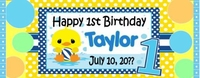 FB39 - Baby Duck 1st Birthday Wrappers - (Can be for boy or girl)