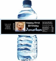 First Birthday Water Bottle Labels