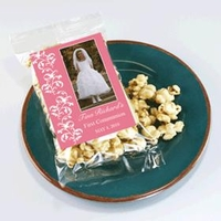First Communion Caramel Corn Favors
