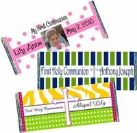 First Holy Communion Candy Bar Favors and Wrappers