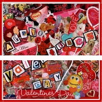 VAL16 - Funky Valentine's Day Candy Bar Wrappers