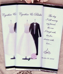 Gown & Tux Elegant Wedding Candy Wrappers