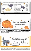 HAL01CW - Creepy Pumpkin Halloween Candy Bar Wrappers