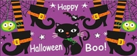 HAL02CW - Cats, Spiders and Witches Feet Halloween Candy Bar Wrappers