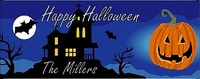 HAL05CW - Haunted House Halloween Candy Bar Wrappers