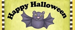 HAL09CW - Halloween Bat Candy Bar Wrapers
