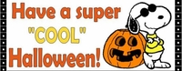 HAL10CW - Snoopy Halloween Candy Bar Wrappers