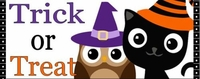 HAL21CW - Owl and Black Cat Halloween Candy Bar Wrappers