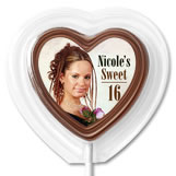 Heart Shaped Chocolate Lollipops