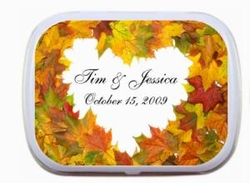 Heart Shaped Leaves Personalized Mint Tins