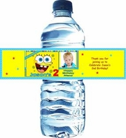 Kid's Birthday Water Bottle Labels