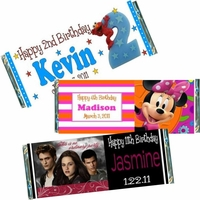 Kids Birthday Candy Bar Favors & Candy Bar Wrappers