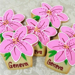 Lily Flower Cookie Favors