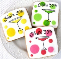 Martini Cookie Favors