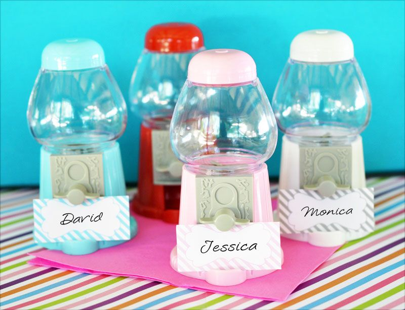 Gumball Machine Favors Gumball Machine Place Card Holders