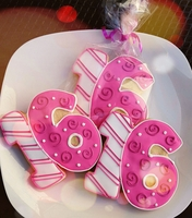 Number Cookie Favors