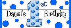 FB10 - Blue Dots Candy Bar Wrappers