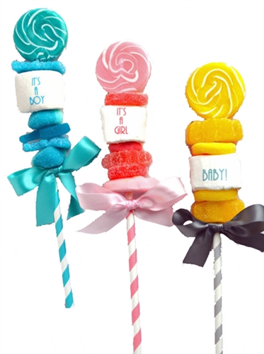 Baby Shower Candy Kabobs Personalized Baby Shower Candy Favors