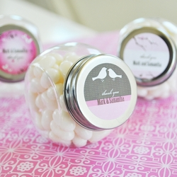 Personalized Bridal Shower Candy Jar Favors