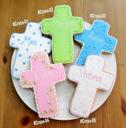 Personalized Cross Cookie Favors