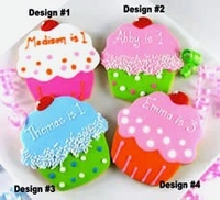 Personalized Cupcake Cookie Favors