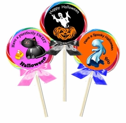 Personalized Halloween Lollipops