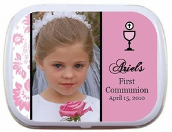 04T - Personalized Communion Photo Mint Tins