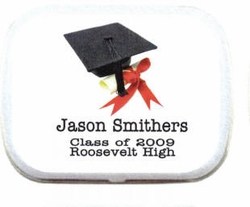 Personalized Mint Tins - Cap and Tassle Graduation Favor