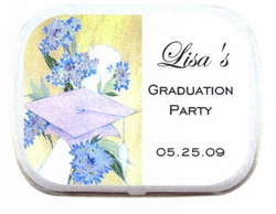 Cap and Flowers Personalized Mint Tins