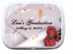 Personalized Mint Tins - Graduation Roses
