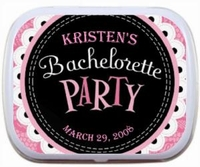 Personalized Mint Tins - Pink Lace Design
