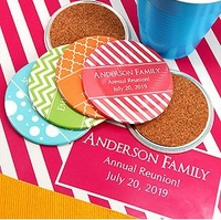 Personalized Round Drink Coasters