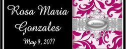Q05CW Damask Quinceanera Candy Bars