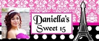 Q10CW - Paris Theme Quinceanera Candy Bar Wrappers